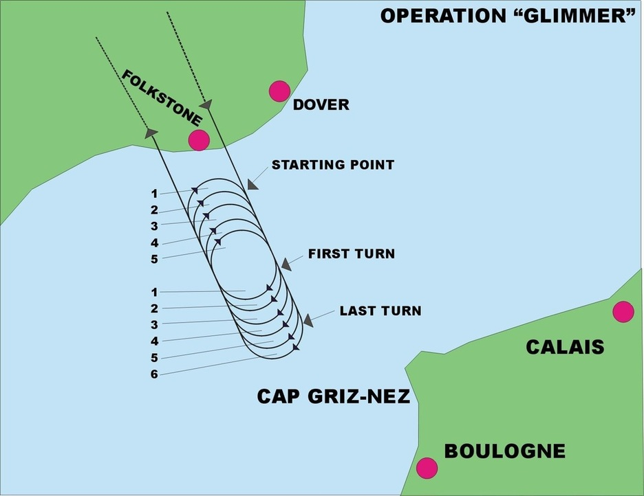 Map of Operation Glimmer